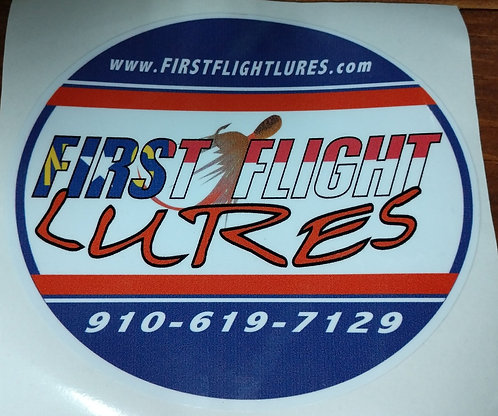 First Flight Lures Logo Decal
