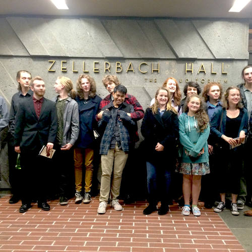 Field trip to Berkeley Symphony w/Young Composers Project 2016-17