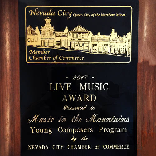 Nevada City Chamber of Commerce Recognition