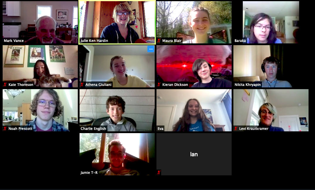 Group Zoom meeting w/Composers Project