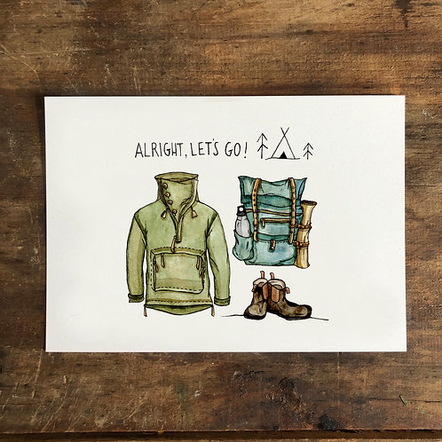 "Postkarte ""Alright, let´s go"""