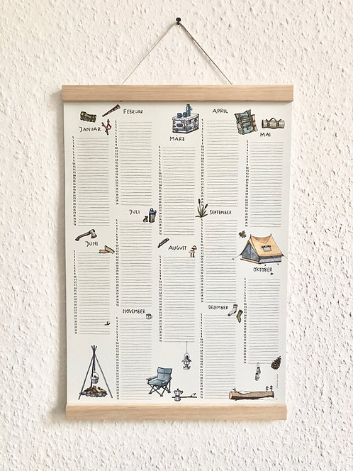 Geburtstagskalender Outdoor, Recyclingpapier