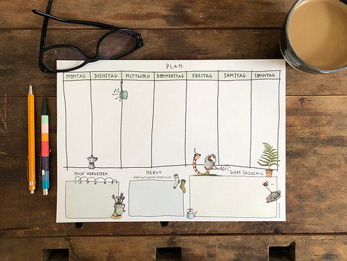 Weekly Planner Recyclingpapier