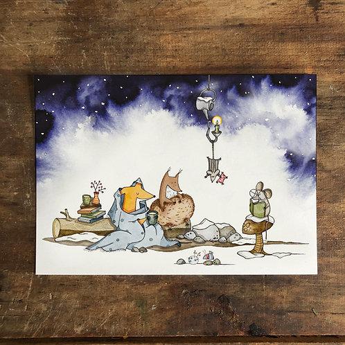"""Postkarte """"Wintergemütlichkeit"""""""