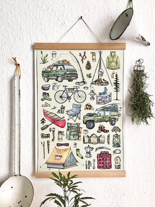 "Poster ""Outdoor"" Recyclingpapier"