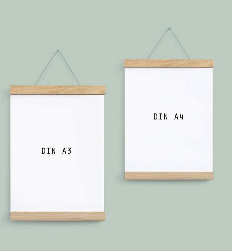 """""""Side by Side"""" Werkstätten Magnet-Posterleisten Eichenholz"""