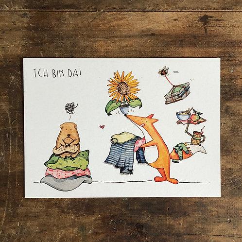 """Postkarte """"Ich bin da"""""""