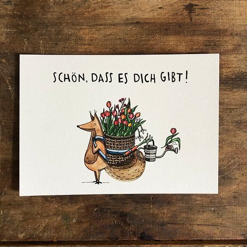 """Postkarte """"Schoen dass es dich gibt"""""""
