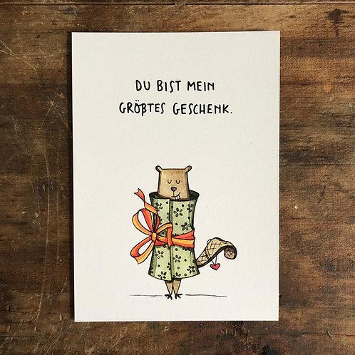 """Postkarte """"Du bist mein groesstes Geschenk"""""""