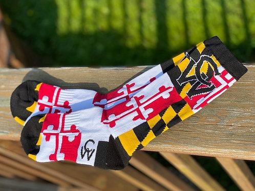 Maryland Flag Socks
