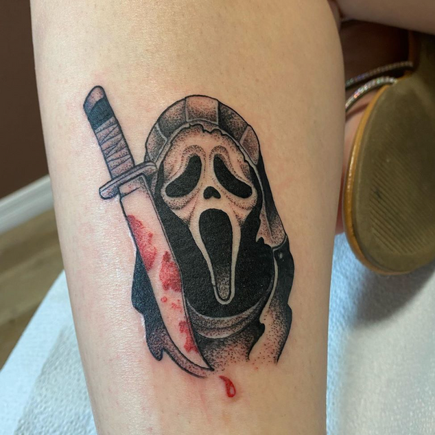 Scream Tattoo By Brian At Fine Ink Studi