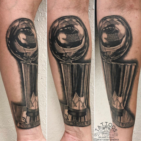 NBA Trophy Tattoo By Topher At Fine Ink