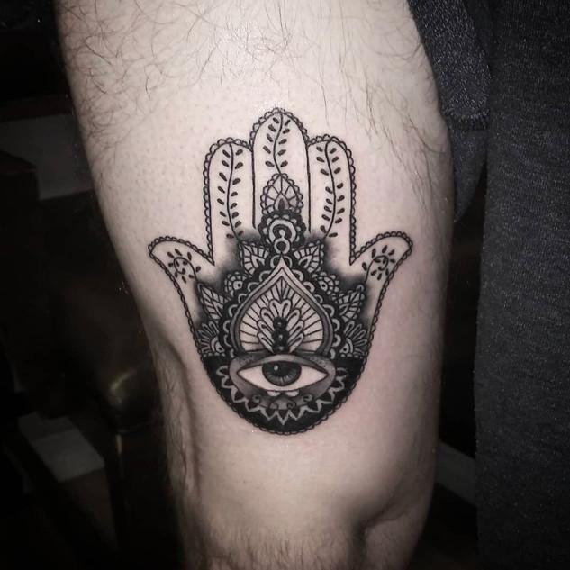 Hamsa Tattoo By Jeremy At Fine Ink Studi