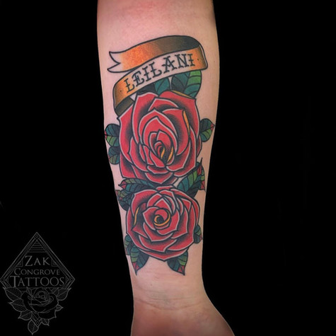 Roses Tattoo By Zak At Fine Ink Studios.