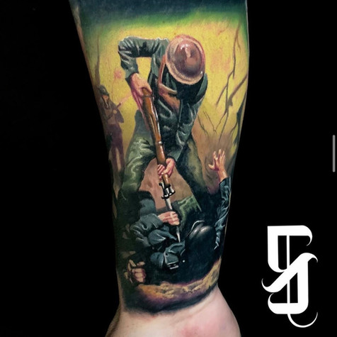 Army Civil War Tattoo By Sargent At Fine