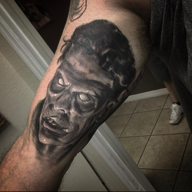Zombie Ash from Evil Dead Tattoo By Barn