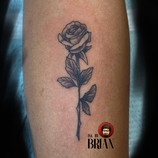 Simple Rose Tattoo By Brian At Fine Ink