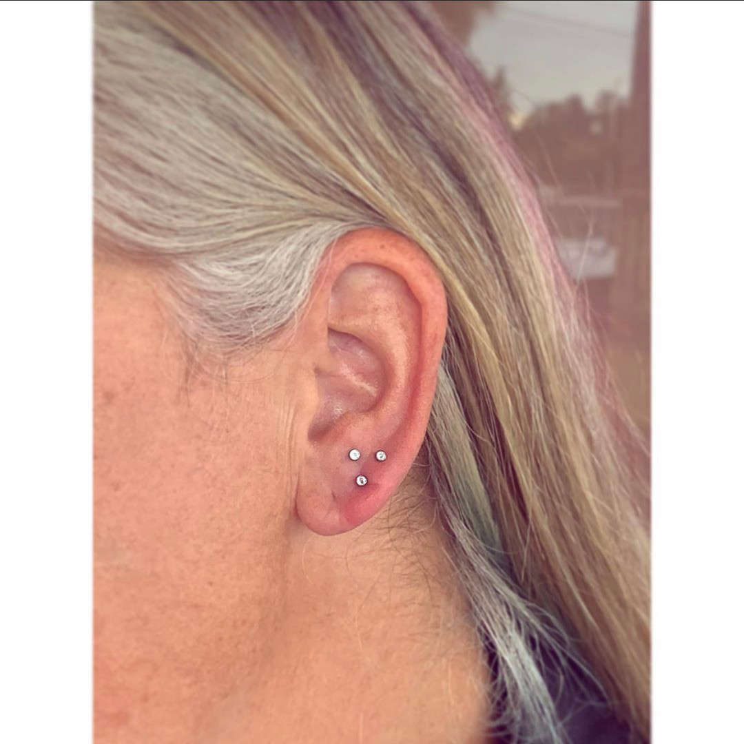 Triple Lobe Piercing by Mousey at Fine I