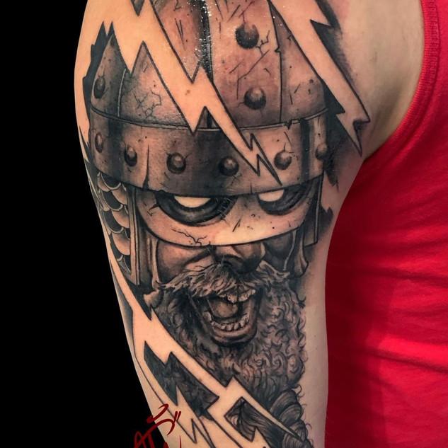 Viking Tattoo By Scott At Fine Ink Studi