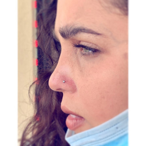 Nostril Piercing by Mousey at Fine Ink S