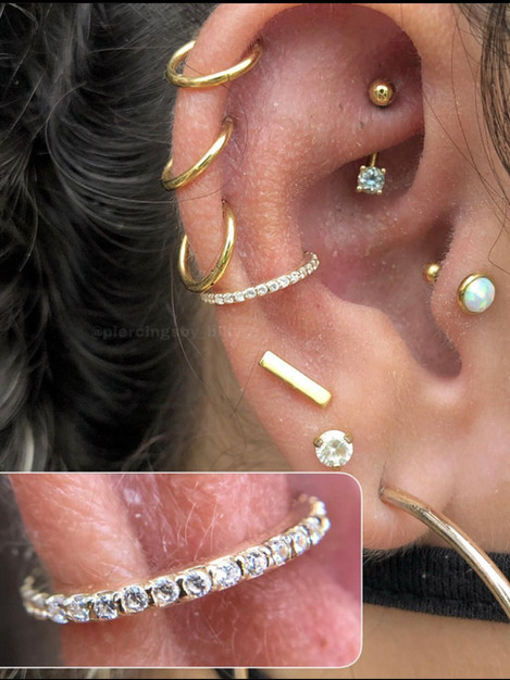 Ear Work Piercing by Billy at Fine Ink S