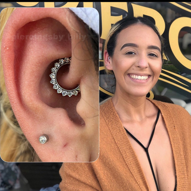 Daith Piercing by BIlly Fine Ink Studios