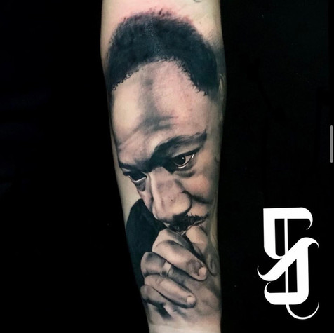 Martin Luther King Portrait Tattoo By Sa