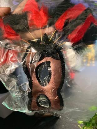 Red copper balck mask