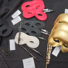 Masks on sticks