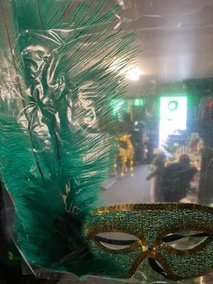Green Feather Mask