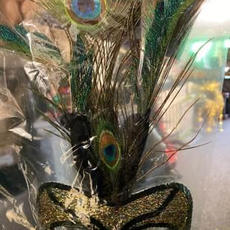 Peacock gold mask