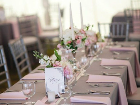 Pretty in Pink & Grey - for Wedding