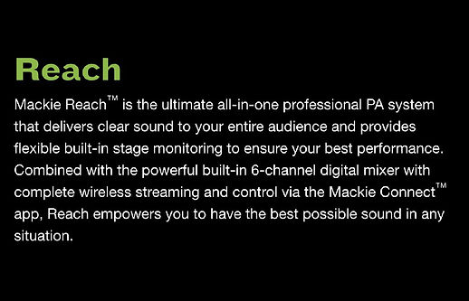 Mackie Reach Professional PA System  - $799.95