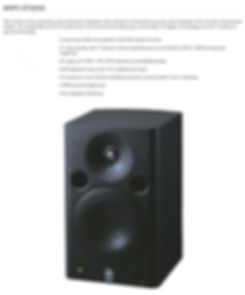 "Yamaha MSP5STUDIO Black, bi-amped studio monitor with 5"" woofer - $274.95"