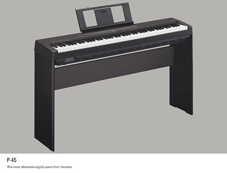YAMAHA P45B 88-key black digital piano. Includes PA150 power adapter, music rest and sustain pedal - $449.95