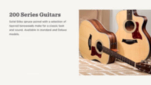 MUSICIANS 1ST CHOICE TAYLOR 200 SERIES GUITARS