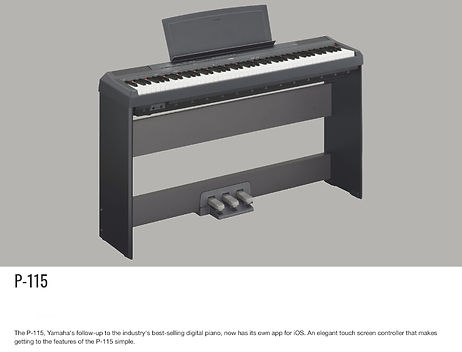 YAMAHA P115B 88-key black digital piano. Includes PA150 power adapter, music rest and sustain pedal - $599.95