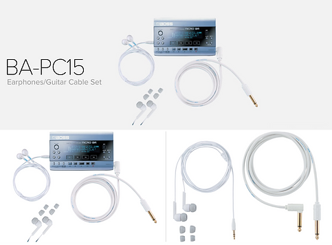 BOSS BA-PC15 - Earphones and Guitar Cable for MICRO BR - $19.95