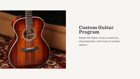 MUSICIANS 1ST CHOICE TAYLOR CUSTOM GUITAR PROGRAM