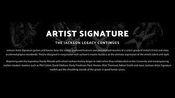 MUSICIANS 1ST CHOICE JACKSON ARTIST SERIES