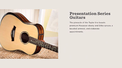 MUSICIANS 1ST CHOICE TAYLOR PRESENTATION SERIES GUITARS