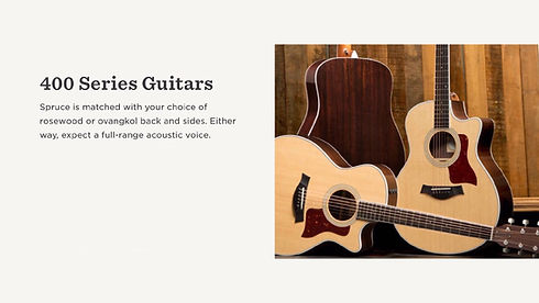 MUSICIANS 1ST CHOICE TAYLOR 400 SERIES GUITARS