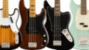 MUSICIANS 1ST CHOICE SQUIER BY FENDER BASS GUITARS
