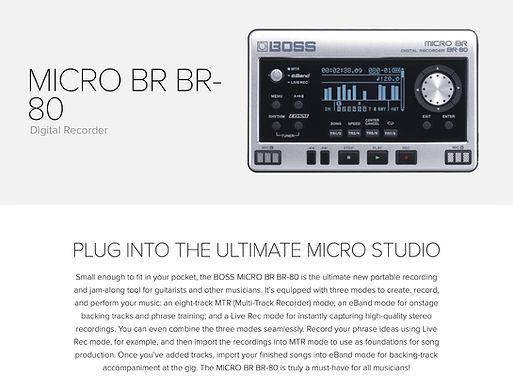 Boss MICRO BR BR-80 - $249.95