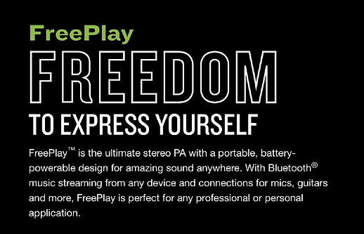 Mackie FreePlay Personal PA System - $299.95