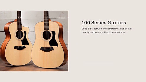 MUSICIANS 1ST CHOICE TAYLOR 100 SERIES GUITARS