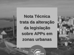 Nota Técnica sobre Áreas de Preservação Permanente em zonas urbanas
