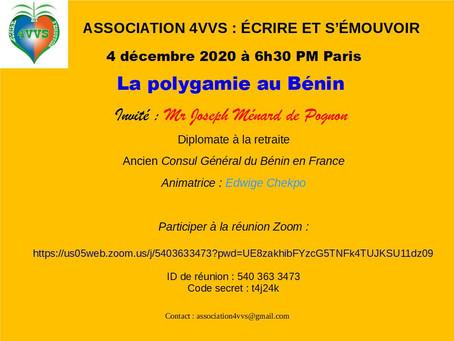Invitation :  https://us05web.zoom.us/j/5403633473?pwd=UE8zakhibFYzcG5TNFk4TUJKSU11dz09
