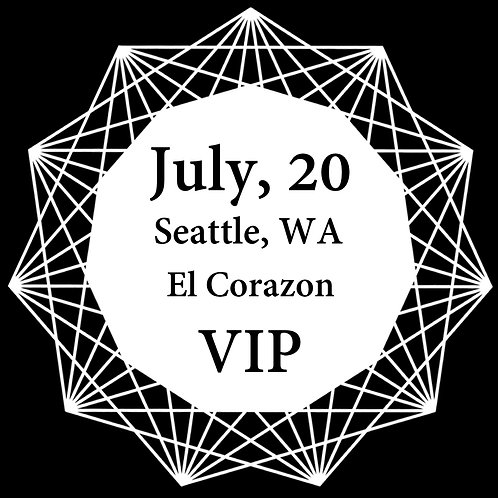 VIP Ticket for Seattle 2018.