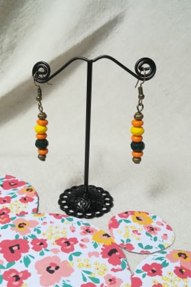 "Boucles d'oreilles ""Amandine orange"""
